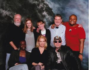 Dad and I (Joanna) hanging out with the cast of TWD.